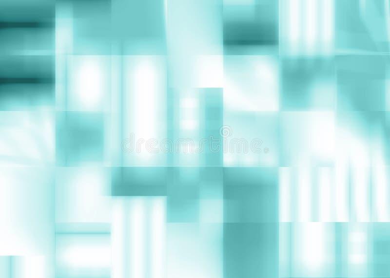 Abstracte blauwe achtergrond van vierkanten vector illustratie