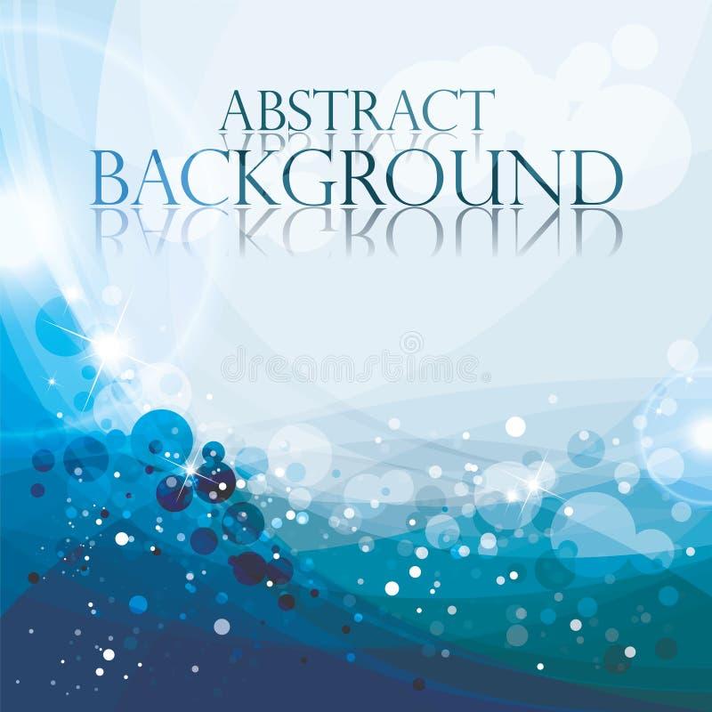 Abstracte blauwe achtergrond, vectorillustratie, aqu royalty-vrije illustratie