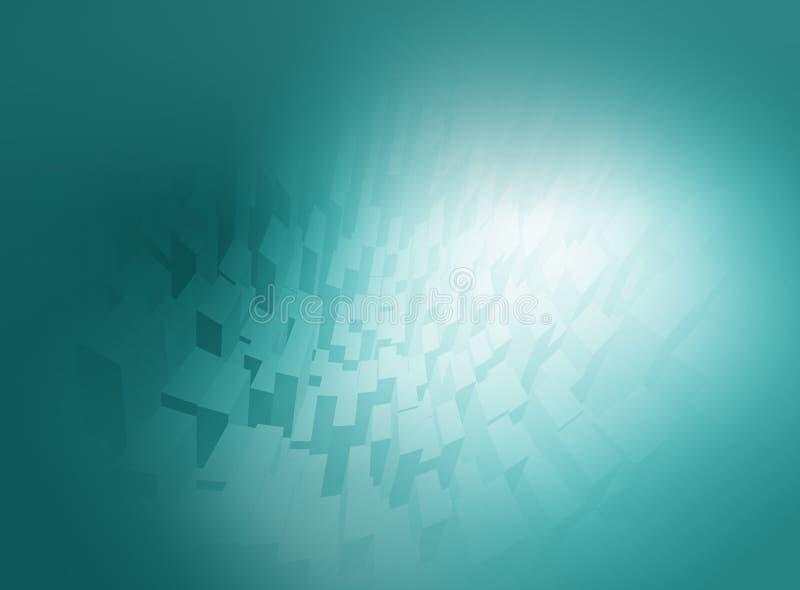 Abstracte blauwe achtergrondcomputergrafiek stock illustratie