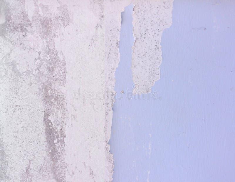 Abstracte blauwe barst oude muur royalty-vrije stock afbeelding