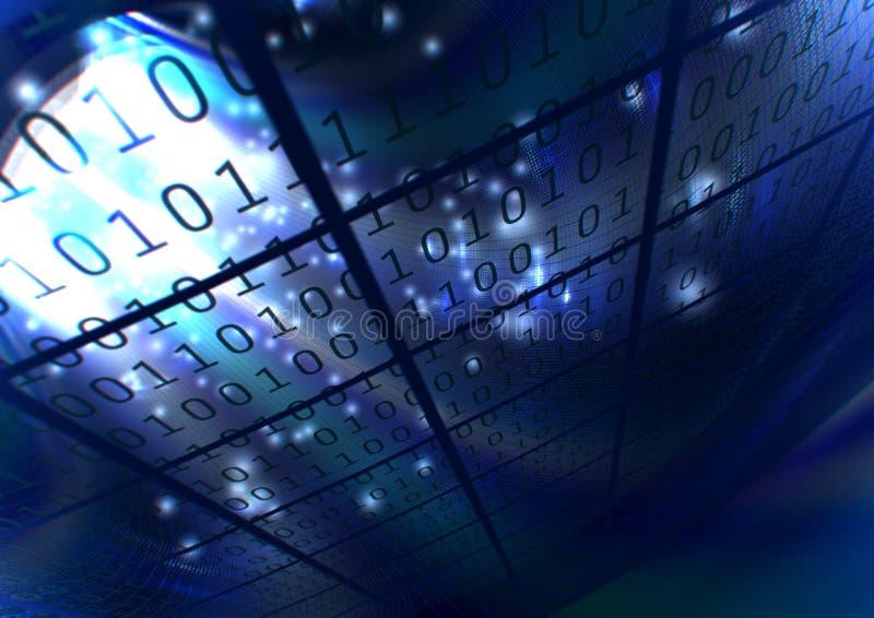 Abstracte blauwe binaire achtergrond stock illustratie