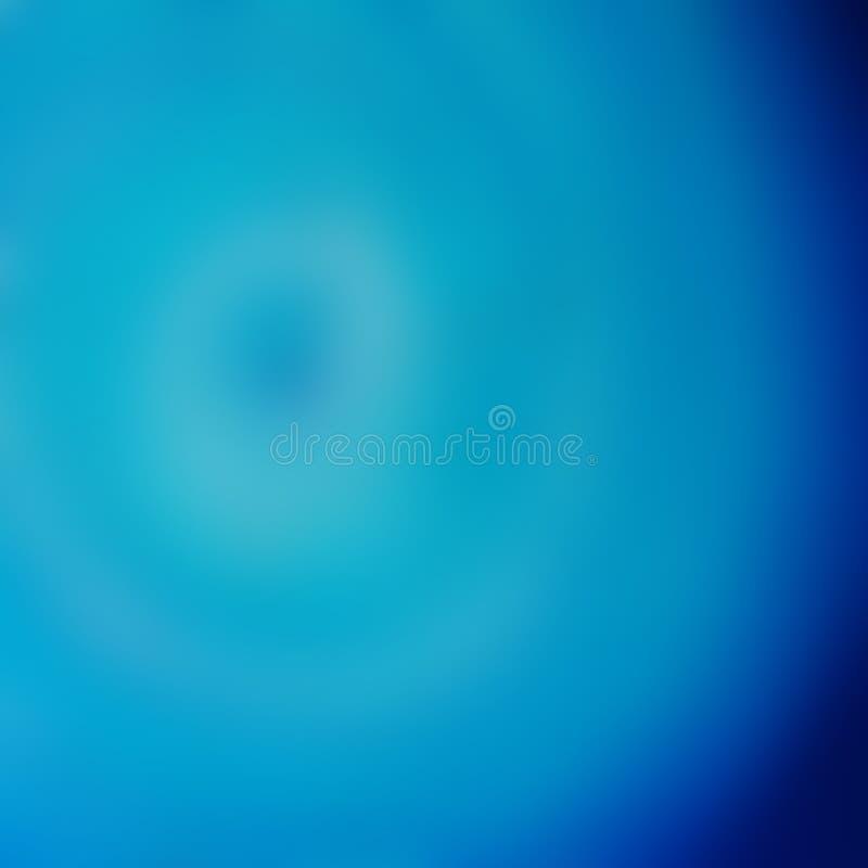 Abstracte blauwe blurrachtergrond, defocus royalty-vrije illustratie
