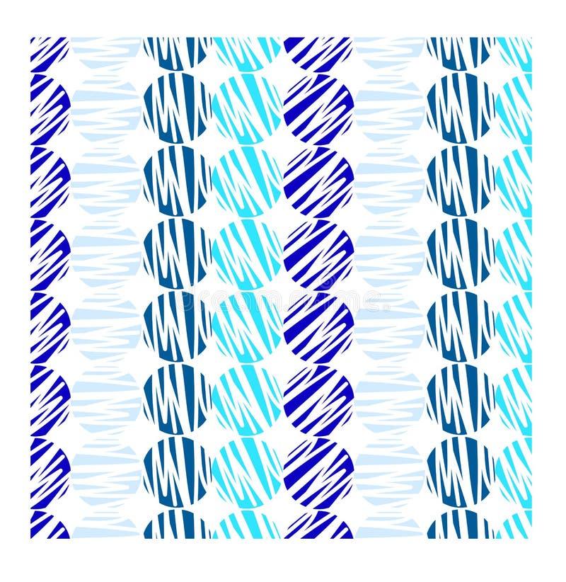 Abstracte blauwe cirkel met witte achtergrond vector illustratie