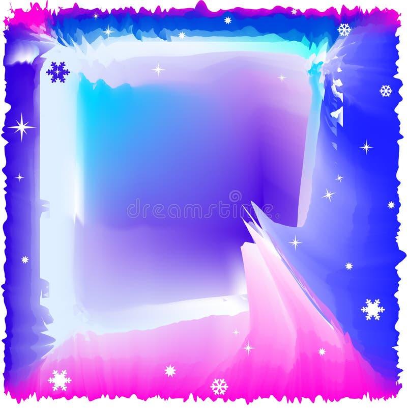 Abstracte blauwe de winterlay-out vector illustratie