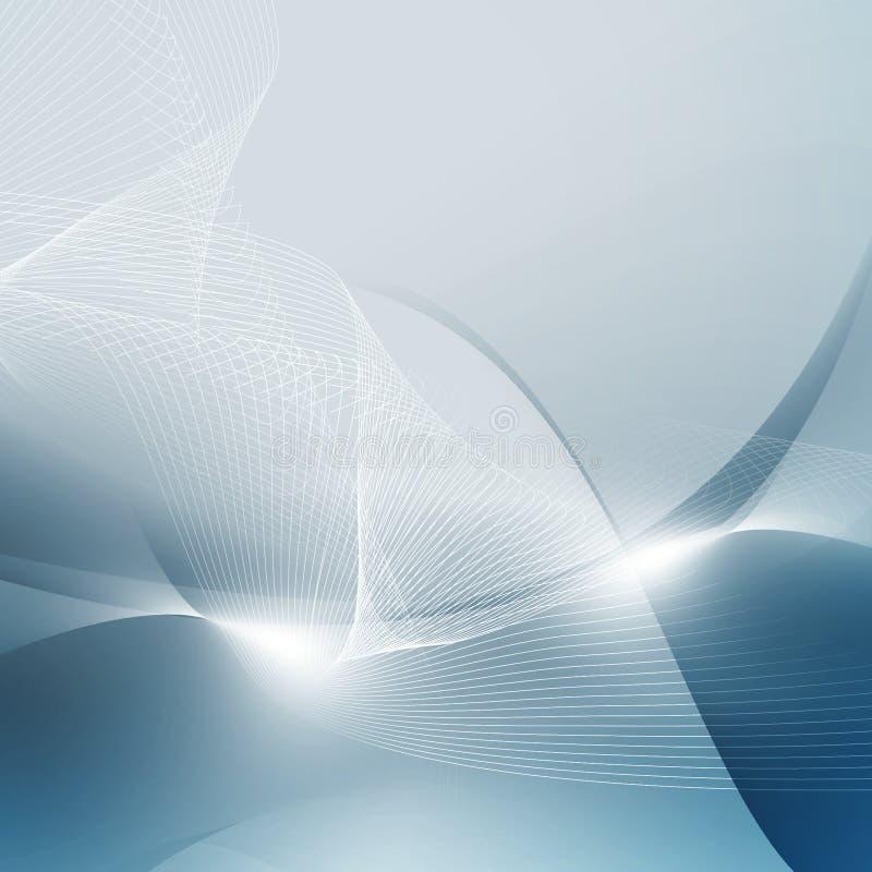 Abstracte blauwe digitale ruimte royalty-vrije illustratie