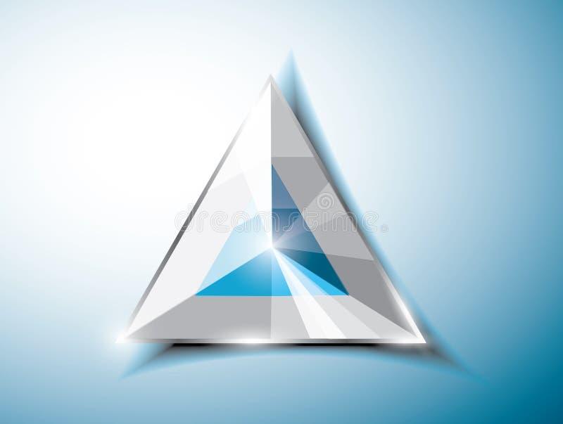 Abstracte driehoek royalty-vrije illustratie