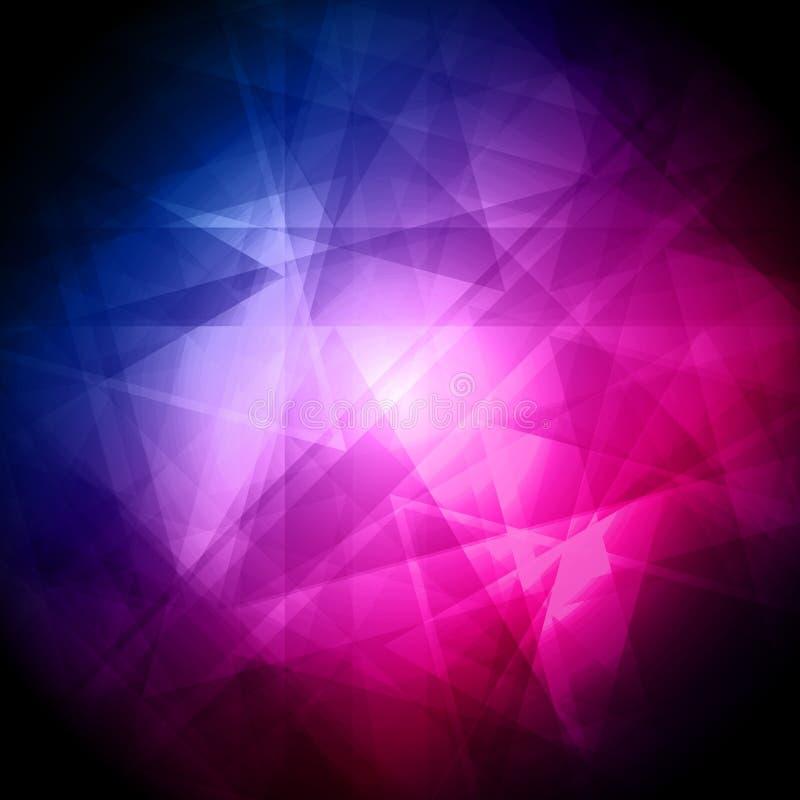 Abstracte blauwe en roze achtergrond voor ontwerp - illustratie stock illustratie