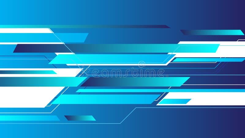 Abstracte blauwe geometrische patroon en achtergrond, Digitale informatietechnologie royalty-vrije illustratie