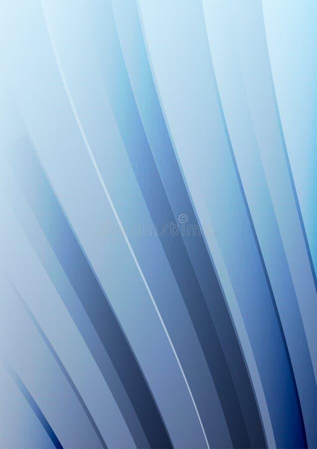 Abstracte blauwe golf vectorachtergrond Gegolfte lijnen voor brochure, website, vliegerontwerp stock illustratie