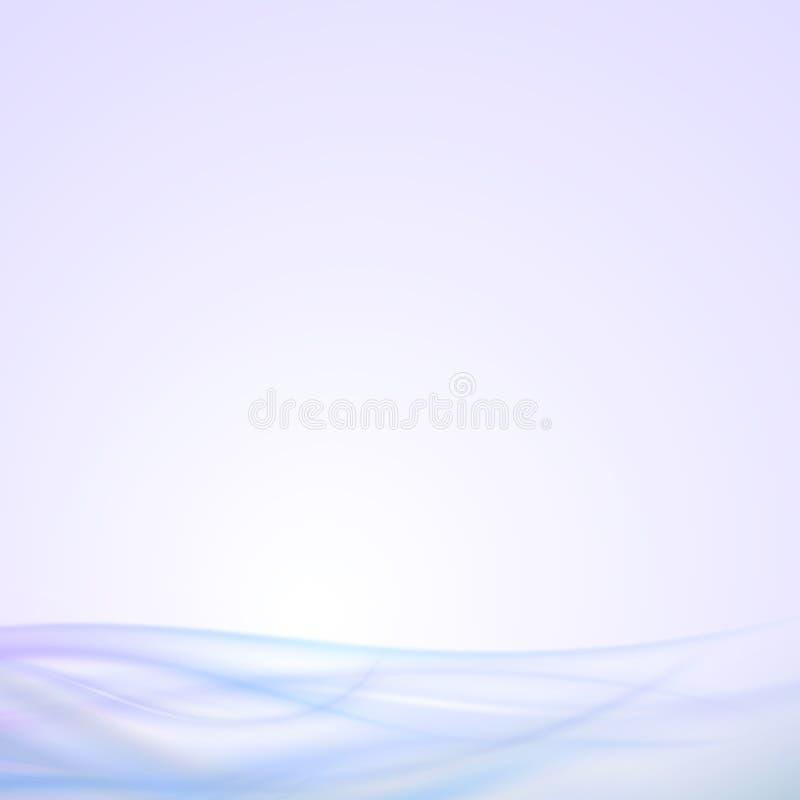 Abstracte blauwe golfachtergrond, licht vectorontwerp royalty-vrije illustratie