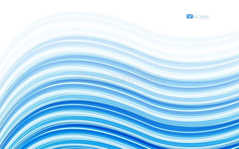 Abstracte blauwe golven - het concept van de gegevensstroom Vector illustratie royalty-vrije illustratie