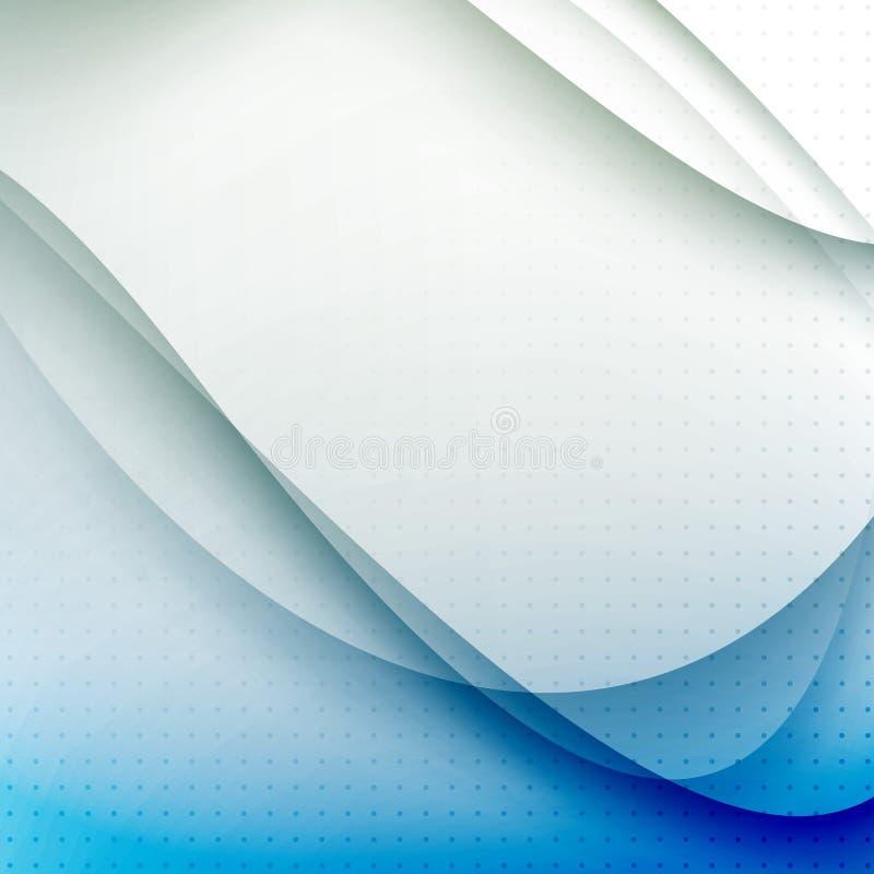 Abstracte blauwe golven moderne achtergrond royalty-vrije illustratie
