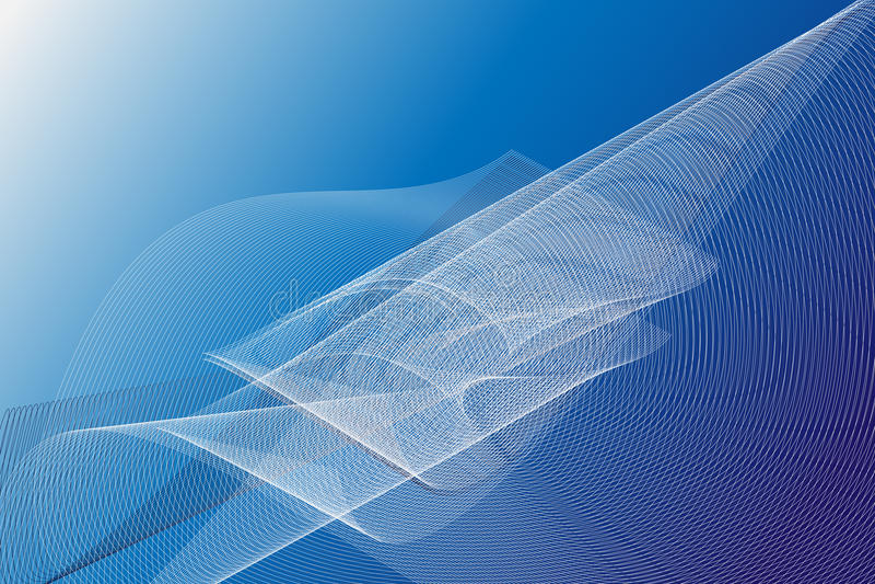 Abstracte blauwe golvende achtergrond stock illustratie