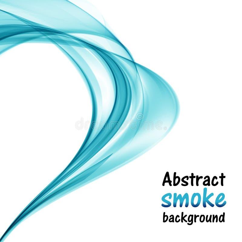 Abstracte blauwe heldere golven op een witte achtergrond royalty-vrije illustratie