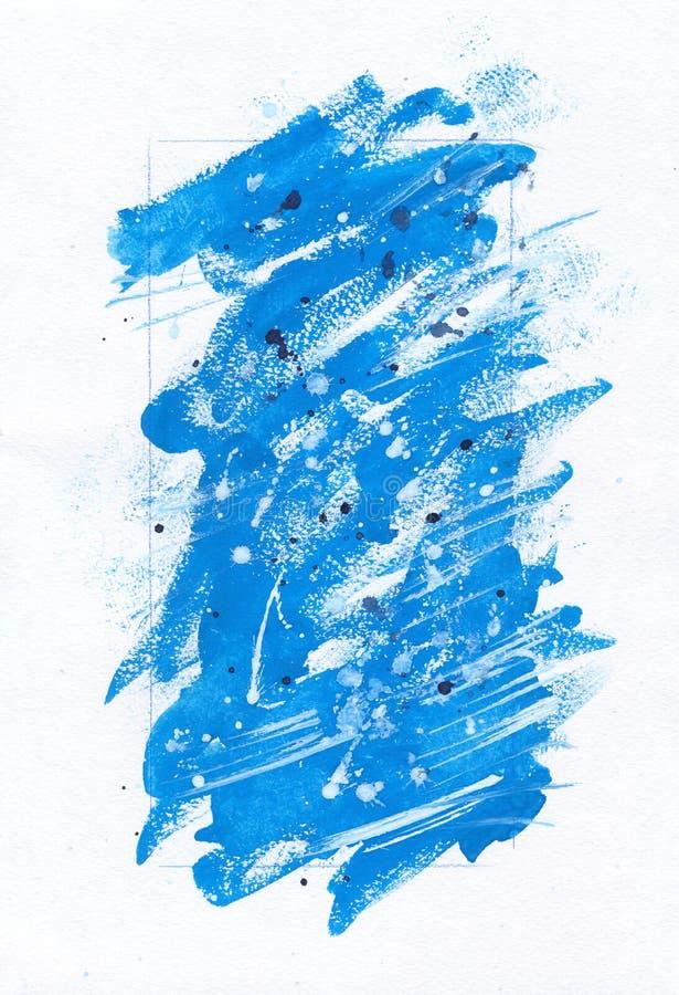 Abstracte blauwe het schilderen achtergrond vector illustratie