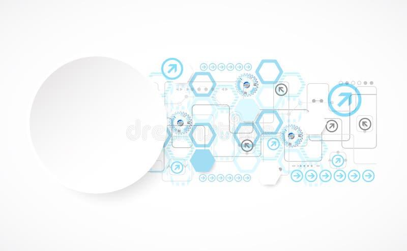 Abstracte blauwe hexagon futuristische achtergrond voor de ontwerpwerken vector illustratie