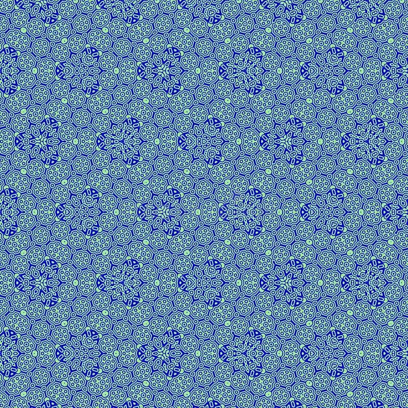 Abstracte blauwe hexagonale patronen voor textuur of achtergrond stock illustratie