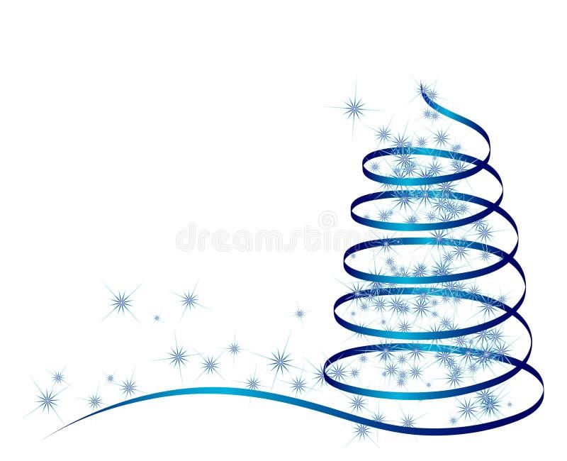 Abstracte blauwe Kerstmisboom stock illustratie