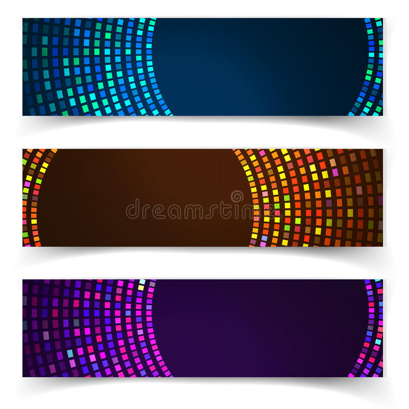 Abstracte blauwe kleurrijke websitekopbal of banner vector illustratie