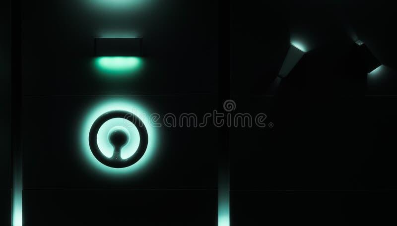 Abstracte blauwe lichten en schaduwen stock foto