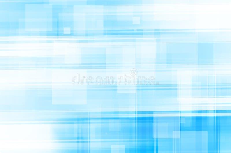 Abstracte blauwe lijnen vierkante achtergrond stock illustratie