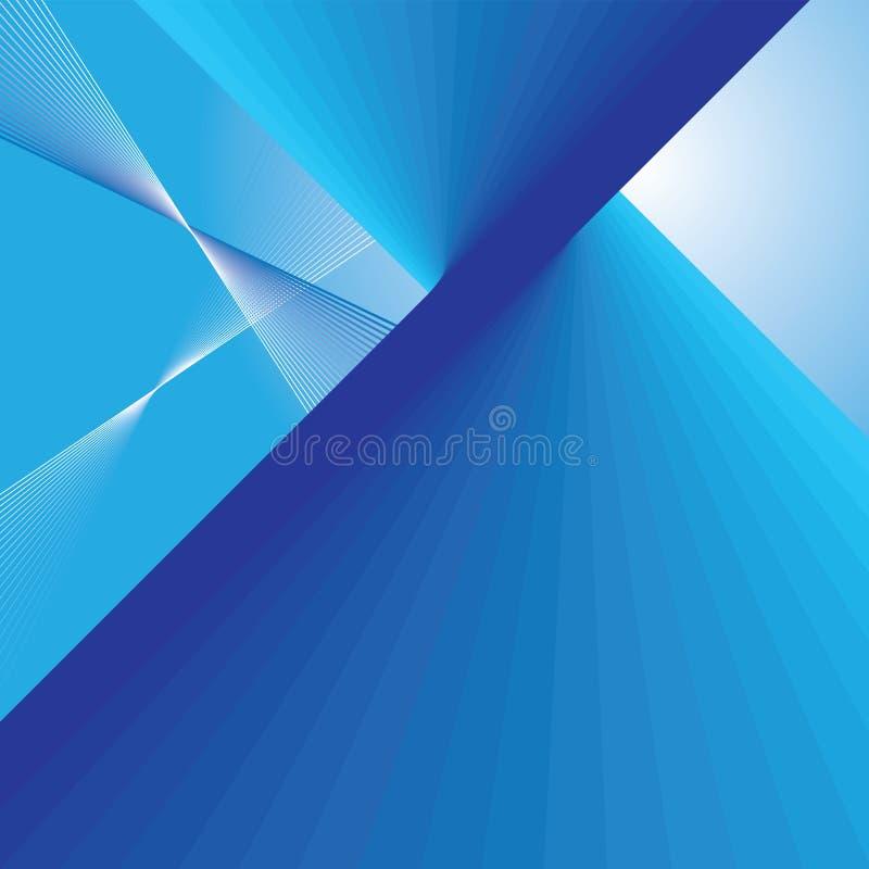 Abstracte blauwe lijnenachtergrond stock illustratie