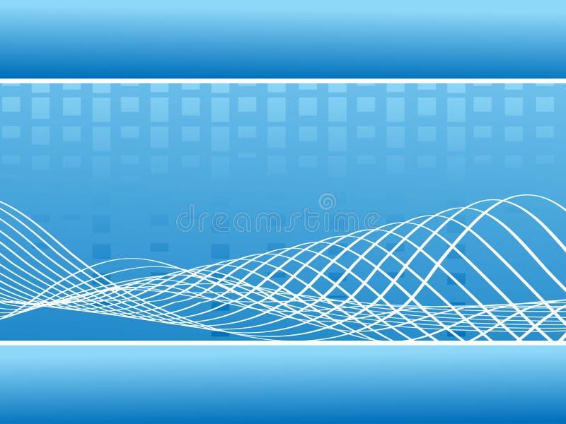 Abstracte blauwe muziek golvende lijnen - vector vector illustratie