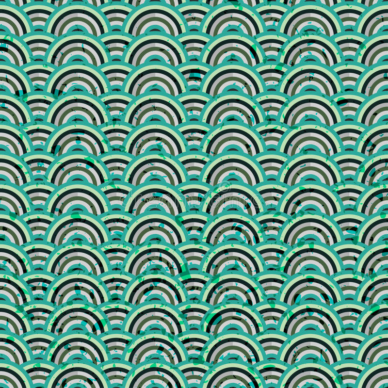 Abstracte blauwe naadloze grunge vector illustratie