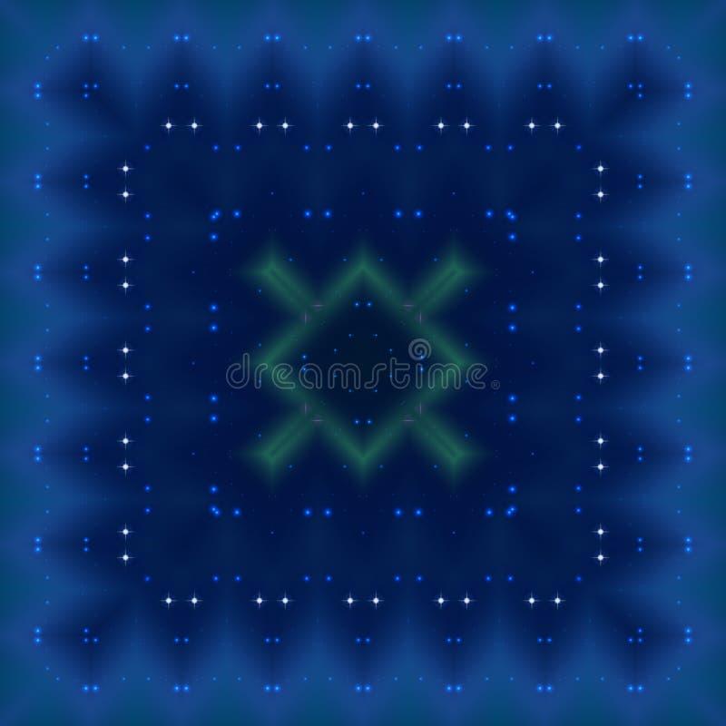 Abstracte blauwe naadloze patroonachtergrond vector illustratie