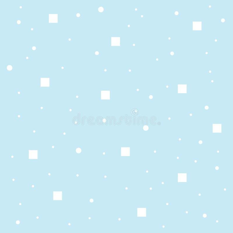 Abstracte blauwe patroon naadloze witte punt, cirkel, de achtergrond van het kubuspatroon, behang vector illustratie