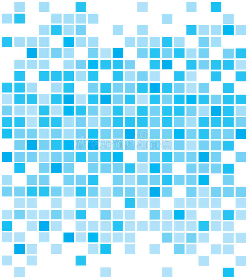 Abstracte blauwe pixelachtergronden vector illustratie