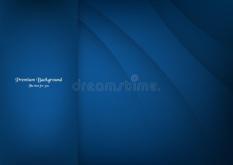 Abstracte blauwe premieachtergrond met exemplaarruimte stock illustratie
