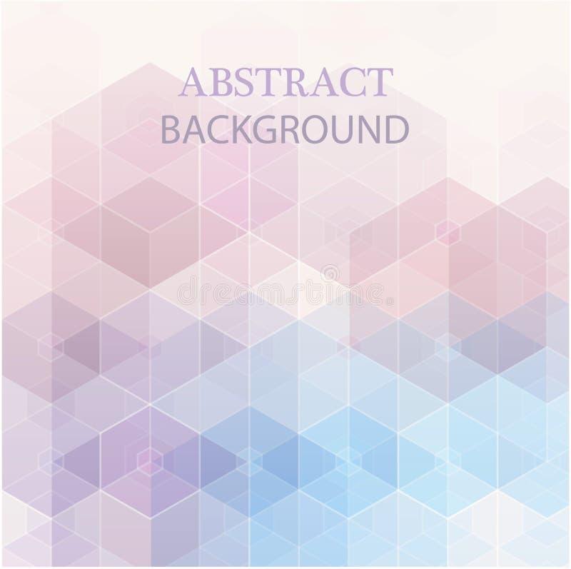 Abstracte blauwe, purpere kleuren hexagon achtergrond Vector geometrisch patroon met gradi?nt Idee?n voor uw zaken vector illustratie