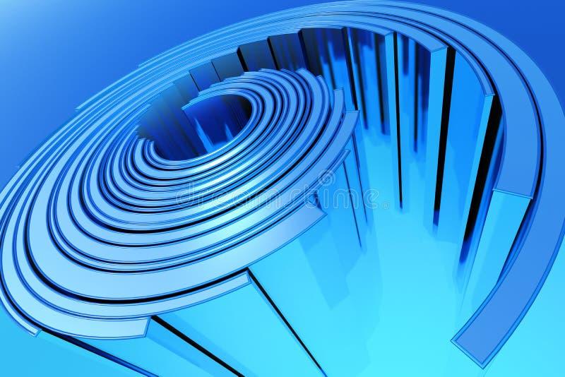 Abstracte blauwe spiraalvormige structuur vector illustratie