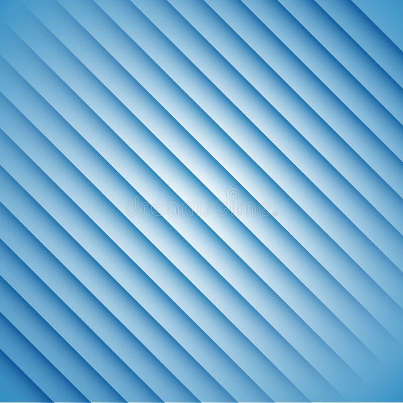 Abstracte blauwe strepen op een witte achtergrond royalty-vrije illustratie
