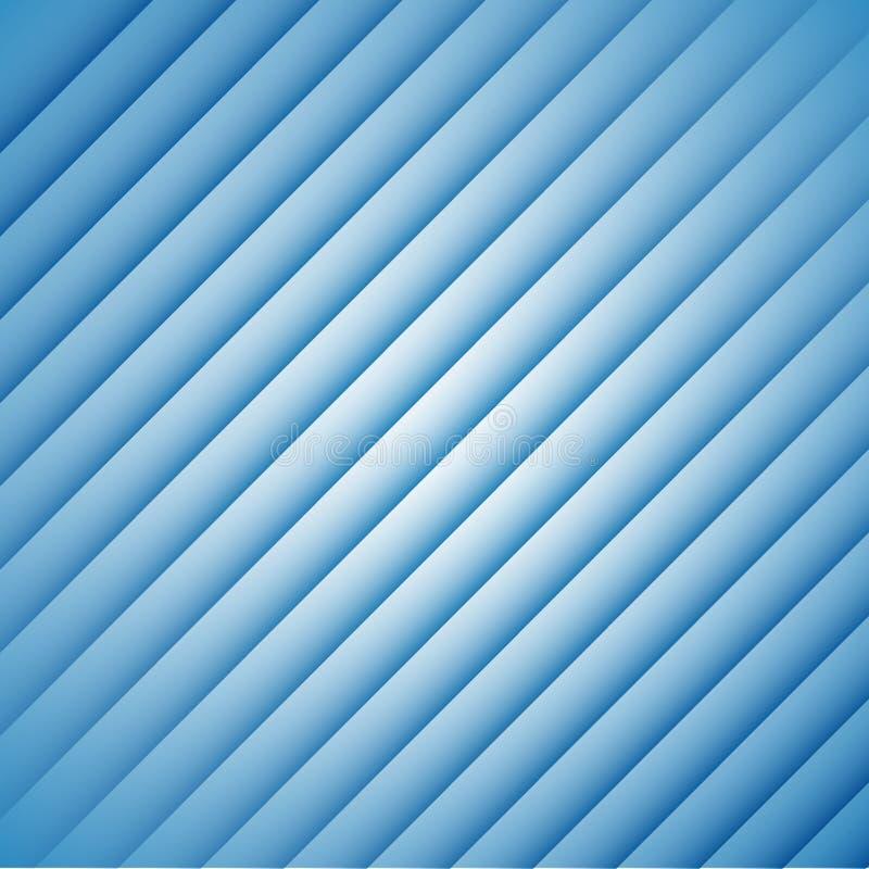 Abstracte blauwe strepen op een witte achtergrond stock illustratie