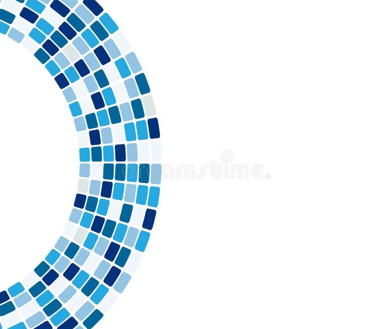 Abstracte blauwe tegels in boog royalty-vrije illustratie
