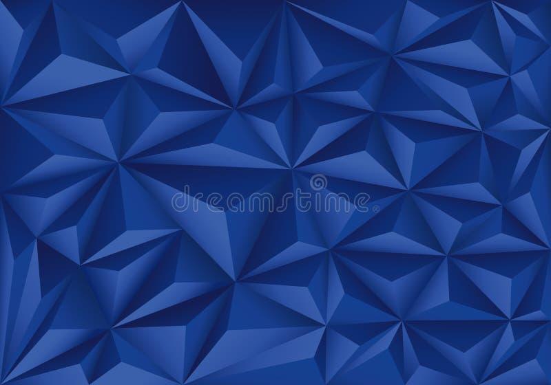 Abstracte blauwe van het het patroonontwerp van de veelhoekdriehoek moderne futuristische vector als achtergrond stock illustratie