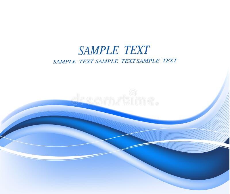 Abstracte blauwe vector als achtergrond stock illustratie