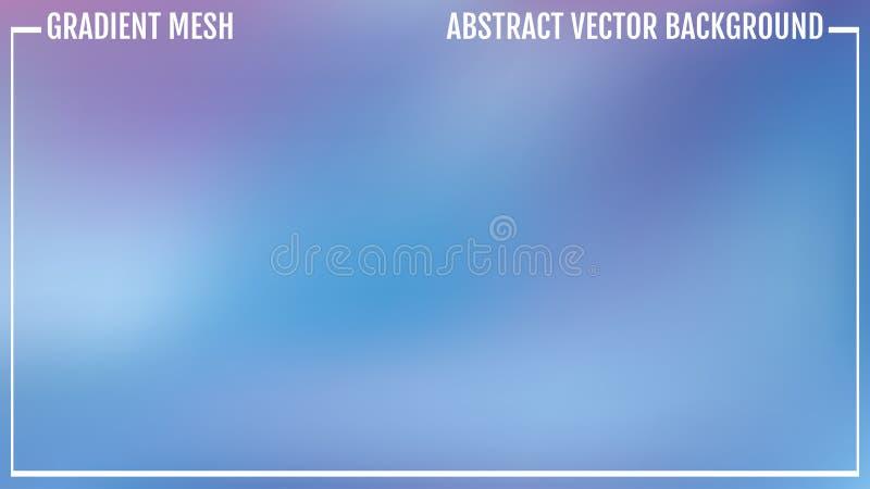 Abstracte blauwe vectorachtergrond, de gradiënt van het kleurennetwerk, behang voor u project Natuurlijke heldere kleur royalty-vrije illustratie