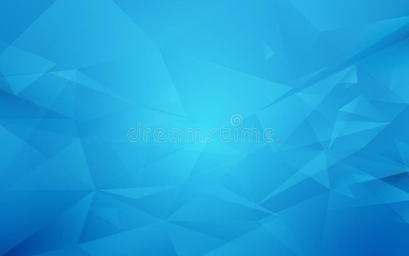 Abstracte blauwe veelhoek geometrische achtergrond royalty-vrije illustratie