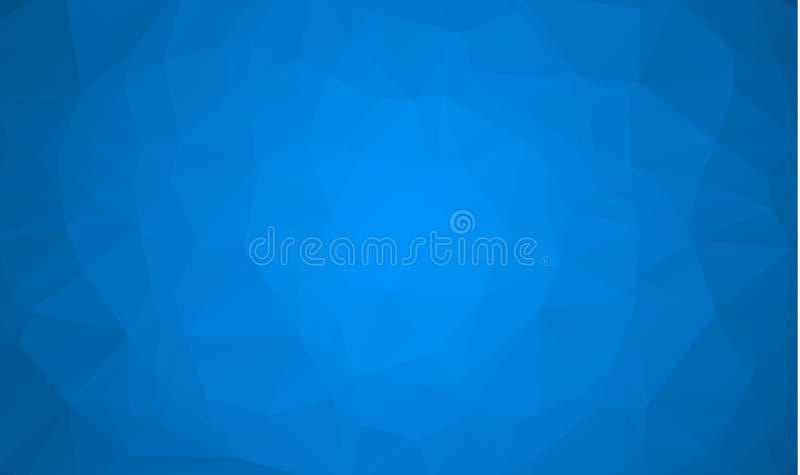 Abstracte blauwe veelhoek vectorachtergrond Vectorveelhoek De vectorachtergrond van de Veelhoek Abstracte Veelhoekige Geometrisch vector illustratie