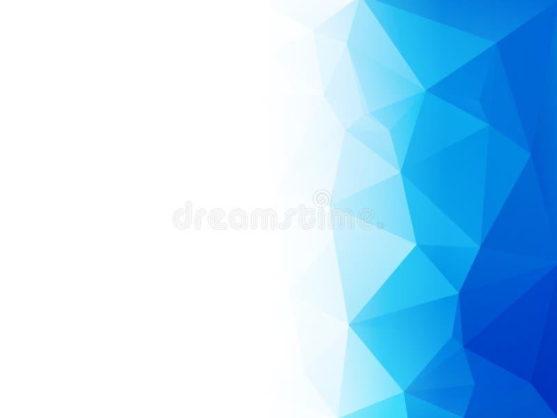 Abstracte blauwe water lage poly vectorachtergrond stock illustratie
