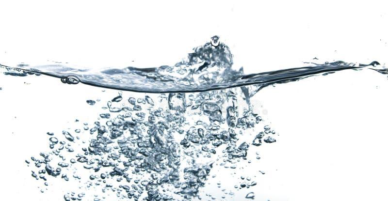 Abstracte blauwe waterbellen royalty-vrije stock afbeeldingen