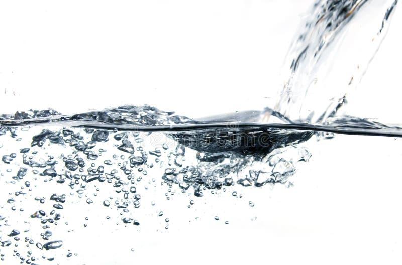 Abstracte blauwe waterbellen royalty-vrije stock foto