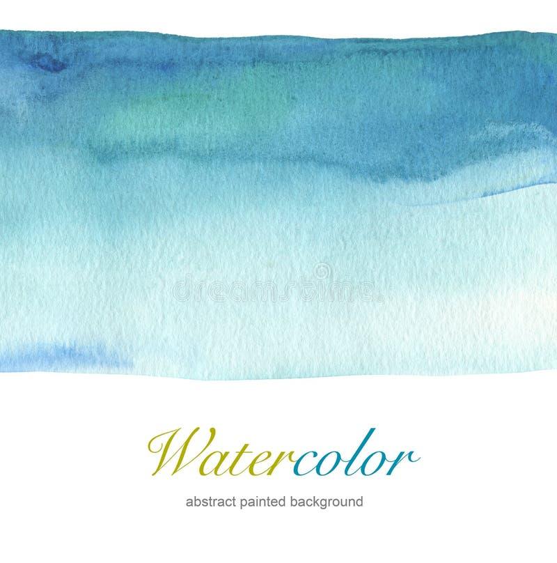 Abstracte blauwe waterverfhand geschilderde achtergrond royalty-vrije stock foto