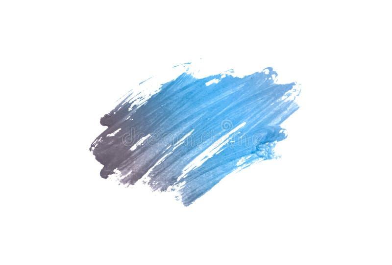 Abstracte blauwe waterverfvlek op witte achtergrond stock afbeelding