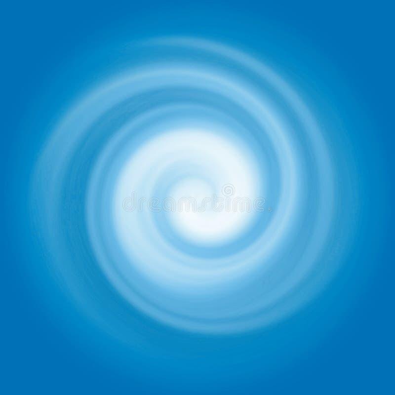 Abstracte blauwe waterwerveling stock illustratie