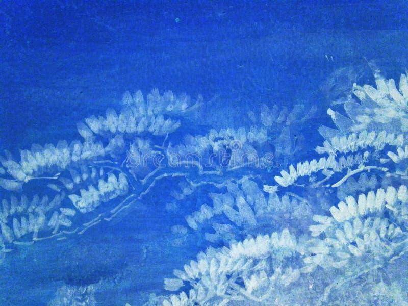 Abstracte blauwe witte achtergrond royalty-vrije stock afbeelding
