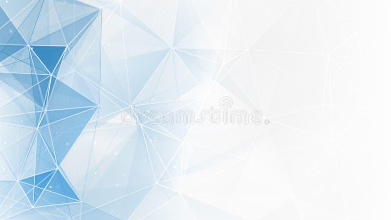 Abstracte blauwe witte geometrische Webachtergrond vector illustratie